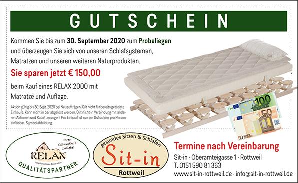 Aktion Relax Bettensystem - gesunder Schlaf